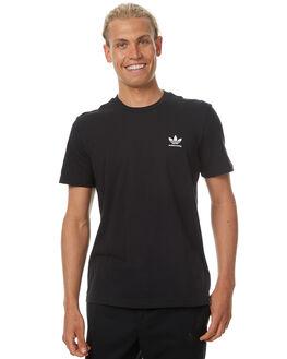 BLACK MENS CLOTHING ADIDAS ORIGINALS TEES - BR5006BLK