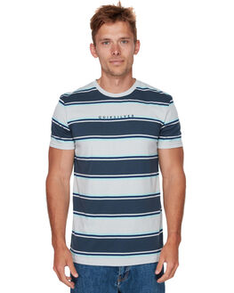 BLUE NGHT BOLD STRPE MENS CLOTHING QUIKSILVER TEES - EQYKT03810BST3