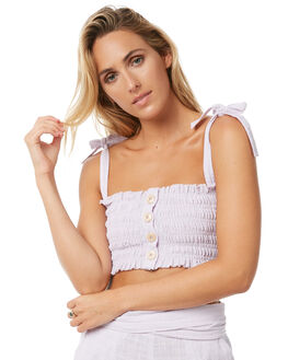 SOLID LILAC WOMENS CLOTHING RUE STIIC FASHION TOPS - S118-7LILAC