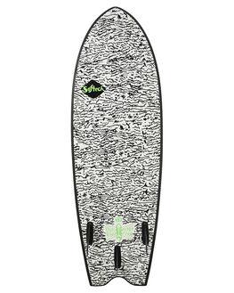 BLACK WHITE BOARDSPORTS SURF SOFTECH SOFTBOARDS - KYSII-WHT-058BLKWH