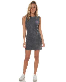 ACID BLACK WOMENS CLOTHING SANTA CRUZ DRESSES - SC-WDD7582ACID