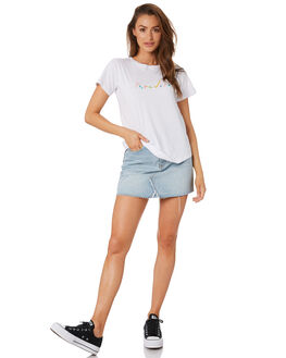 WHITE WOMENS CLOTHING COOLS CLUB TEES - 104-CW5WHI