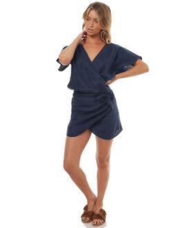 NAVY WOMENS CLOTHING LILYA DRESSES - LND04-LSM17NAVY