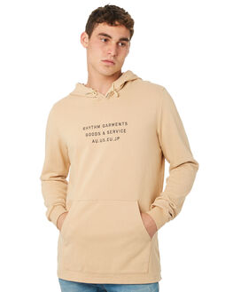 DUSTY PEACH MENS CLOTHING RHYTHM JUMPERS - OCT18M-FL02-PEA
