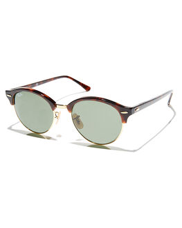 RED HAVANA GREEN MENS ACCESSORIES RAY-BAN SUNGLASSES - 0RB424651990