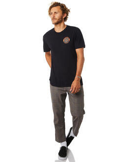LIMO BLACK MENS CLOTHING OBEY TEES - 166141802LBLK