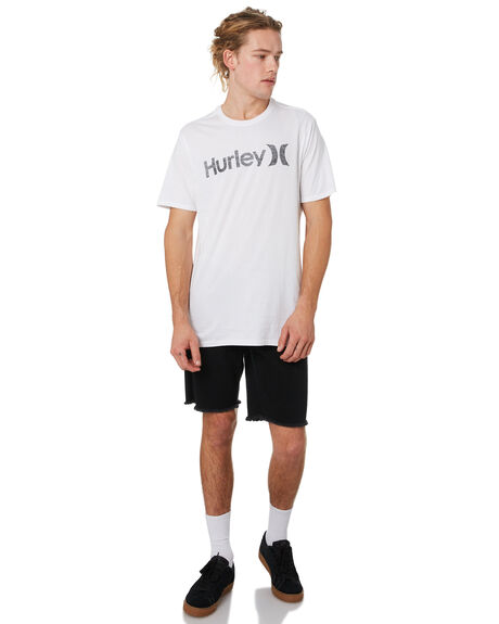 WHITE ANTHRACITE MENS CLOTHING HURLEY TEES - 892205104