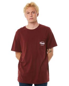 BORDEAUX MENS CLOTHING RVCA TEES - R183046BRDX