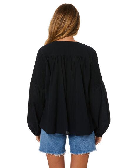 BLACK WOMENS CLOTHING RUE STIIC FASHION TOPS - SA-20-27-2BLK