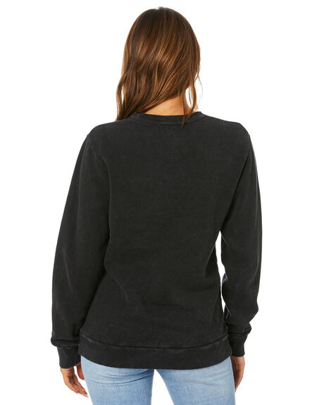 WASHED BLACK WOMENS CLOTHING SILENT THEORY JUMPERS - 6073009WBLK