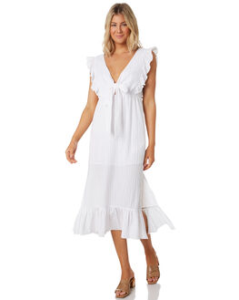 WHITE WOMENS CLOTHING MINKPINK DRESSES - MP1906467WHT