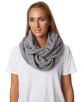 LIGHT GREY HEATHER WOMENS ACCESSORIES RIP CURL SCARVES + GLOVES - GSABF13233