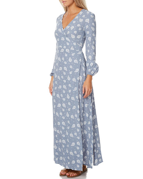 PALE BLUE PAISLEY WOMENS CLOTHING SWELL DRESSES - S8172452PBLU