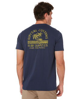 NAVY MENS CLOTHING RIP CURL TEES - CTENJ90049