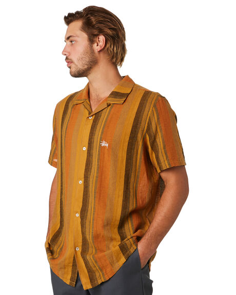 MUSTARD OUTLET MENS STUSSY SHIRTS - ST093410MUST