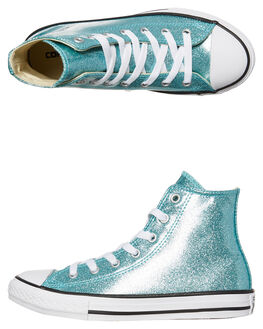 AQUA KIDS GIRLS CONVERSE HI TOPS - 660042AQUA