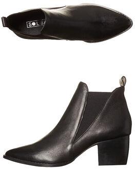 BLACK WOMENS FOOTWEAR SOL SANA BOOTS - SS172W332BLK