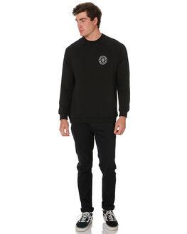 BLACK MENS CLOTHING BRIXTON JUMPERS - 03104BLACK