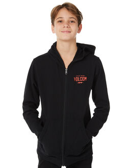 BLACK KIDS BOYS VOLCOM JUMPERS + JACKETS - C48417R3BLK