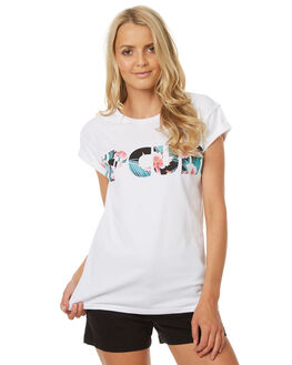 WHITE WOMENS CLOTHING RIP CURL TEES - GTESZ11000
