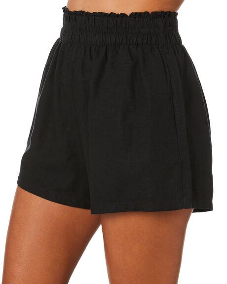 BLACK WOMENS CLOTHING SWELL SHORTS - S8212192BLACK