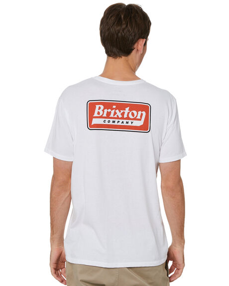 WHITE MENS CLOTHING BRIXTON TEES - 16305WHITE