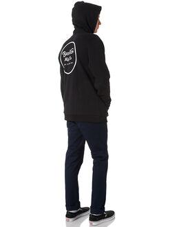 BLACK WHITE MENS CLOTHING BRIXTON JUMPERS - 02444BKWHT