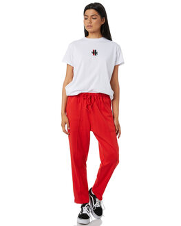 RED WOMENS CLOTHING STUSSY PANTS - ST182601RED
