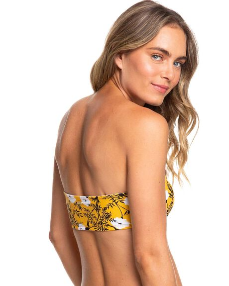 HONEY GOLD HONEY WOMENS SWIMWEAR ROXY BIKINI TOPS - ERJX304032-YJY7