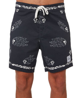 BLACK MENS CLOTHING MISFIT BOARDSHORTS - MT092607BLACK
