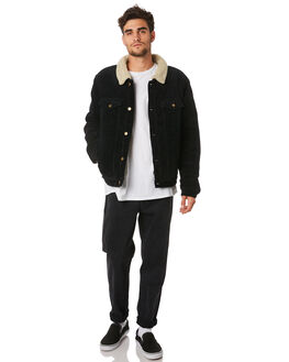 BLACK MENS CLOTHING ROLLAS JACKETS - 15421100