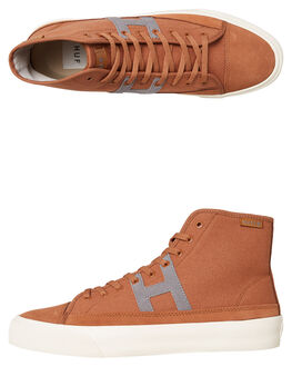 BROWN MENS FOOTWEAR HUF SKATE SHOES - VC00055BRN