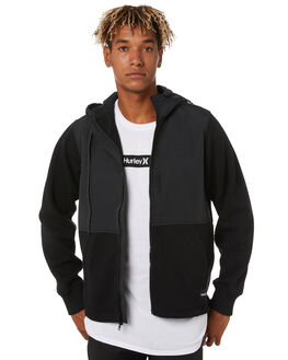 BLACK MENS CLOTHING HURLEY JACKETS - CI2660010