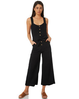 BLACK WOMENS CLOTHING BILLABONG PLAYSUITS + OVERALLS - 6581502BLK