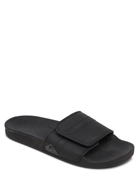 BLACK GREY BLACK MENS FOOTWEAR QUIKSILVER THONGS - AQYL101098-XKSK