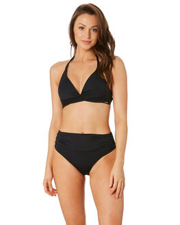 BLACK WOMENS SWIMWEAR MOONTIDE BIKINI BOTTOMS - M7966CNBLK