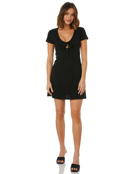 BLACK WOMENS CLOTHING THE HIDDEN WAY DRESSES - H8222453BLK