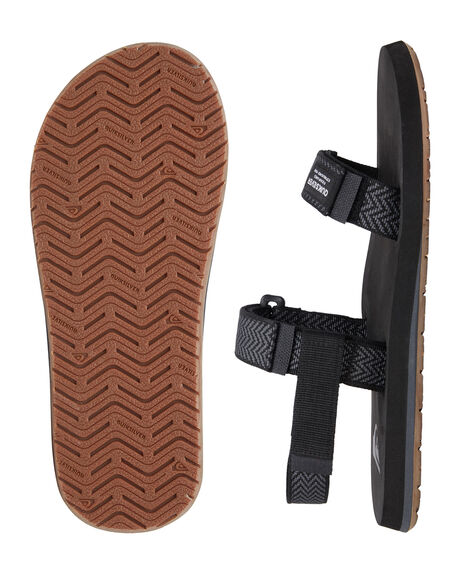 BLACK/GREY/BLACK MENS FOOTWEAR QUIKSILVER THONGS - AQYL100748-XKSK