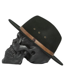 BLACK MENS ACCESSORIES BILLY BONES CLUB HEADWEAR - BBCFED001BLK