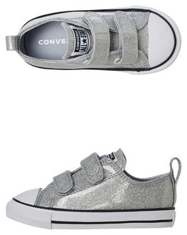 WOLF GREY KIDS GIRLS CONVERSE SNEAKERS - 767184CWGRY