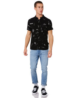 BLACK SCRAWL MENS CLOTHING A.BRAND SHIRTS - 81235BBLKSC