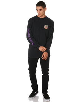 ACID BLACK MENS CLOTHING SANTA CRUZ TEES - SC-MLA9153ACDBK