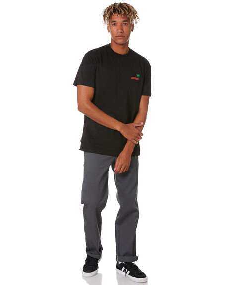 BLACK MENS CLOTHING HUFFER TEES - MTE94J4023607BLK