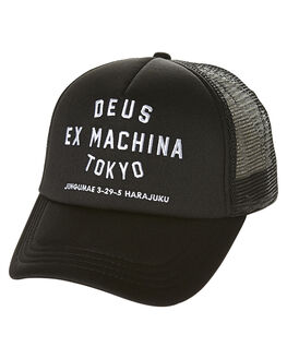 BLACK MENS ACCESSORIES DEUS EX MACHINA HEADWEAR - DMW47840BLK