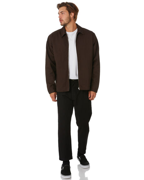 POSTAL BROWN MENS CLOTHING THRILLS JACKETS - TA20-221CPTBRW