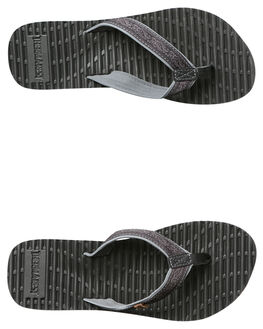 BLACK GREY WOMENS FOOTWEAR FREEWATERS THONGS - WO-004BGRY