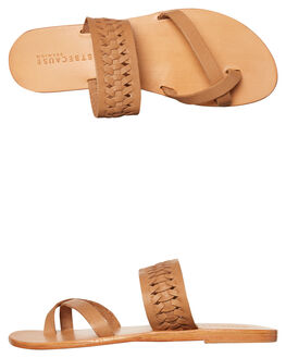 TAN WOMENS FOOTWEAR JUST BECAUSE FASHION SANDALS - SOLE1187TAN