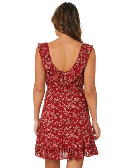 RED VELVET WOMENS CLOTHING RUSTY DRESSES - DRL1126RDV