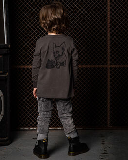 CHARCOAL KIDS BOYS ROCK YOUR KID TOPS - TBT1973-BDCHAR