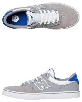 GREY YELLOW MENS FOOTWEAR NEW BALANCE SKATE SHOES - NM255GWR030
